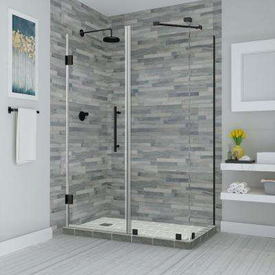 Bromley 45.25 in. to 46.25 in. x 38.375 in. x 72 in. Frameless Corner Hinged Shower Enclosure in Oil Rubbed Bronze
