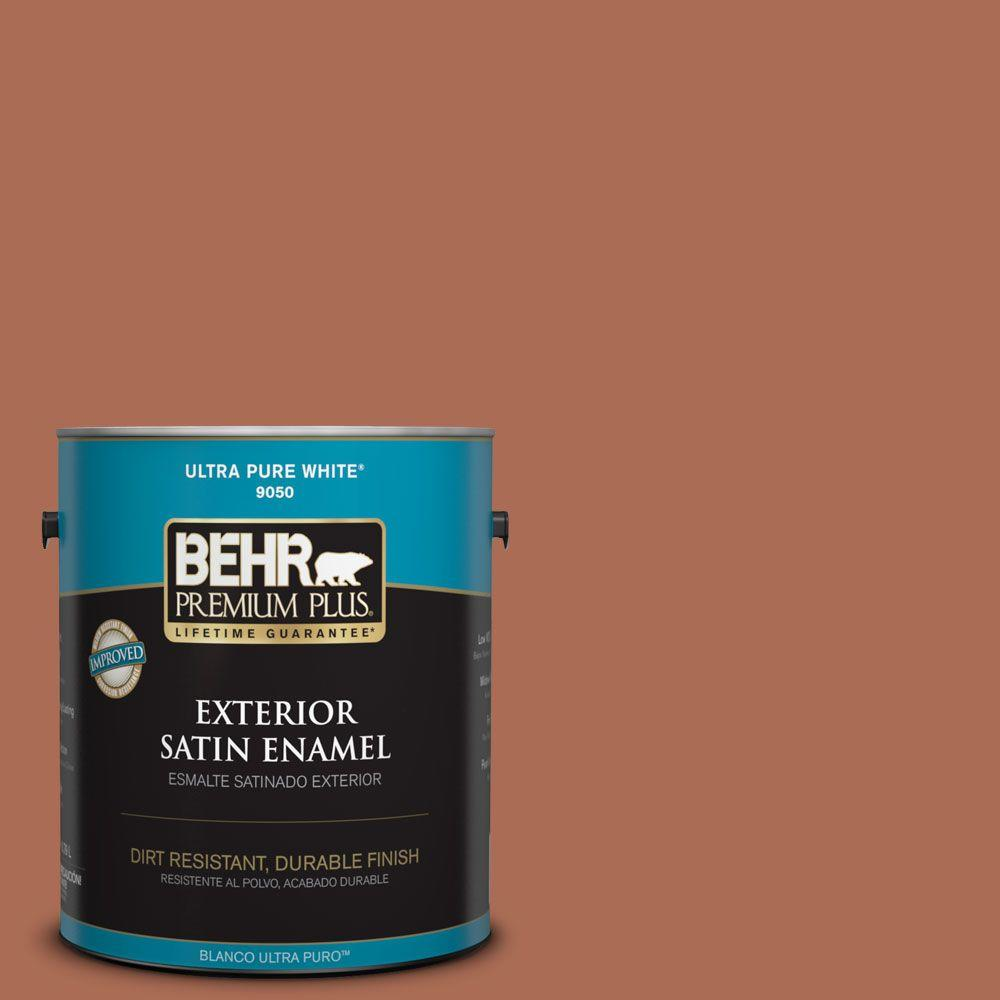 BEHR Premium Plus 1-gal. #BIC-45 Airbrushed Copper Satin Enamel Exterior Paint