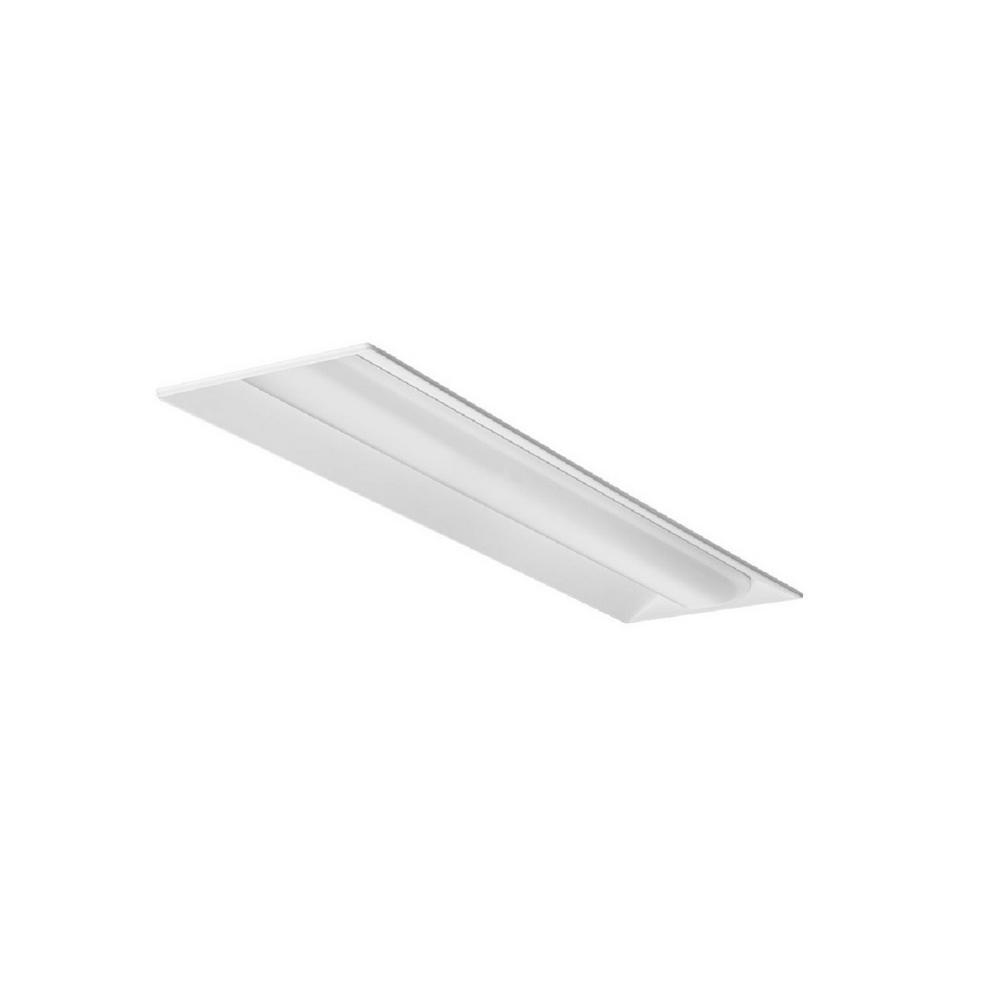 Lithonia Lighting 4 Ft 40 Watt White Integrated Led: Lithonia Lighting 34-Watt White Integrated LED Troffer