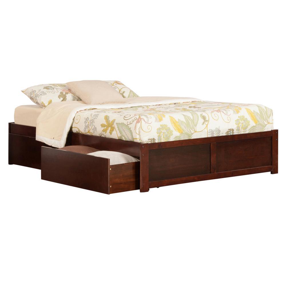 Atlantic Furniture Concord Walnut Twin Xl Platform Bed
