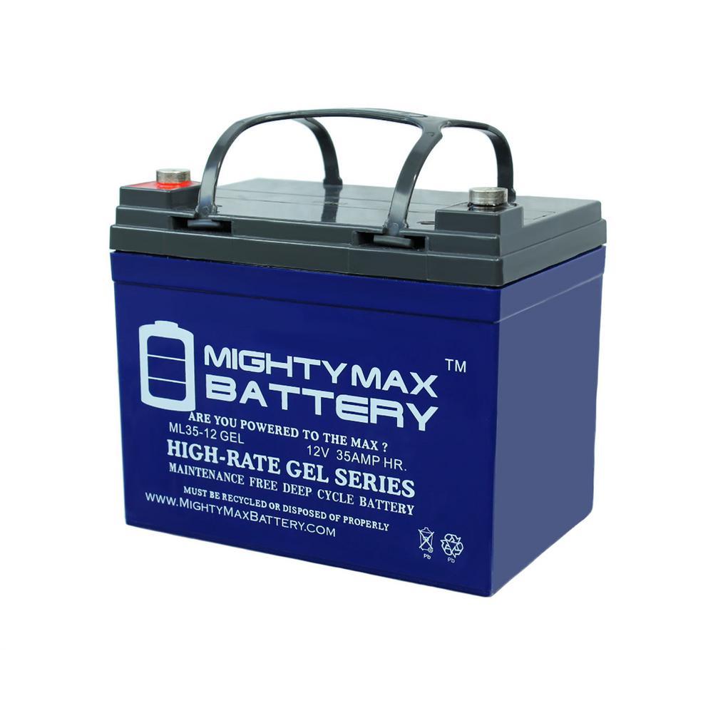 12-Volt 35 Ah Rechargeable GEL Sealed Lead Acid (SLA) Battery