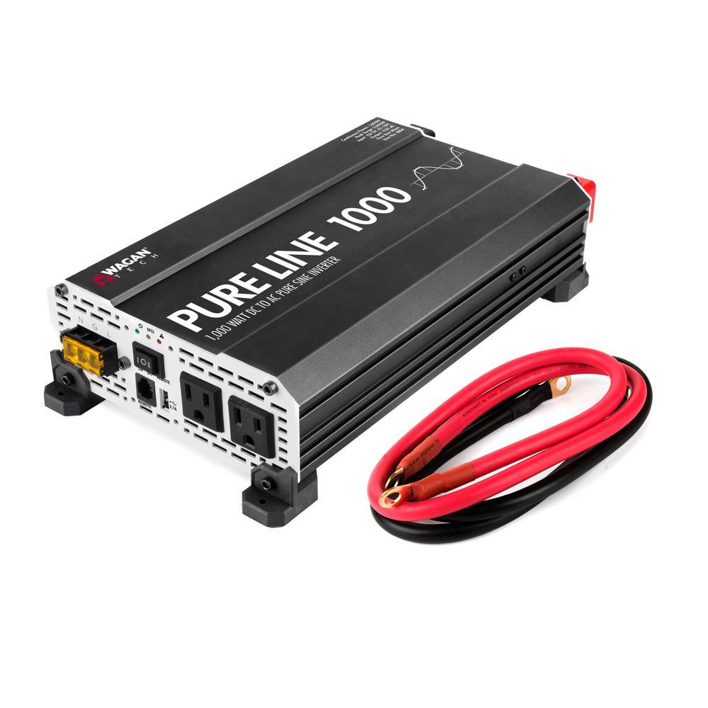 Pure Sine 1000-Watt/2000-Watt ETL Inverter