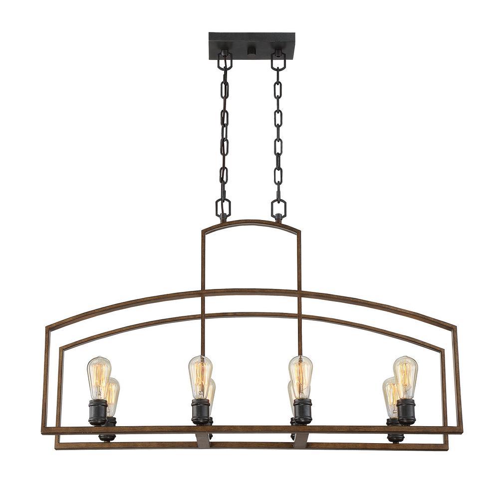 Filament Design 8-Light Woodland Bronze Pendant
