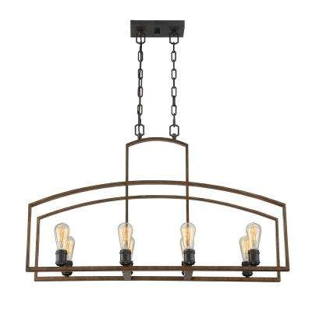 8-Light Woodland Bronze Pendant