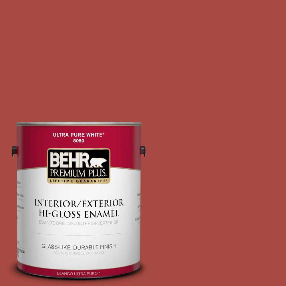 1-gal. #170D-7 Farmhouse Red Hi-Gloss Enamel Interior/Exterior Paint