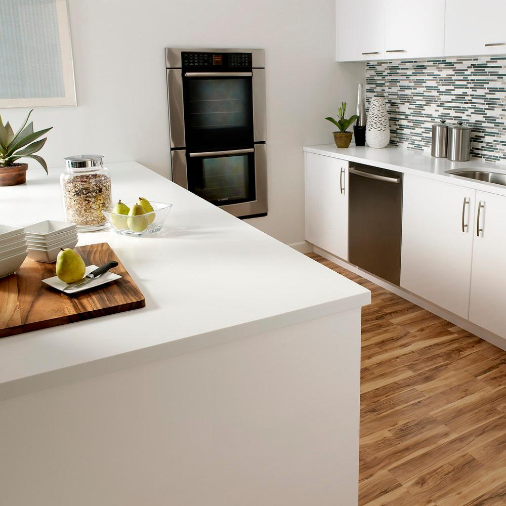 Corian 2 in. x 2 in. Solid Surface Countertop Sample in Designer ...