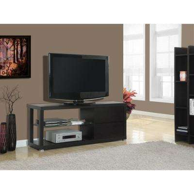 Hollow Core Cappuccino Storage Entertainment Center