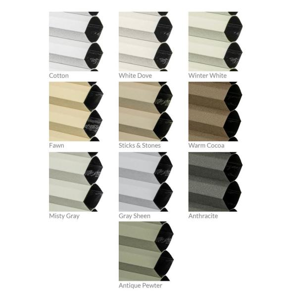 Chicology Cut To Width Cotton 9 16 In Blackout Cordless Cellular Shades 48 In W X 72 In L Ct Bc I 48 72 The Home Depot