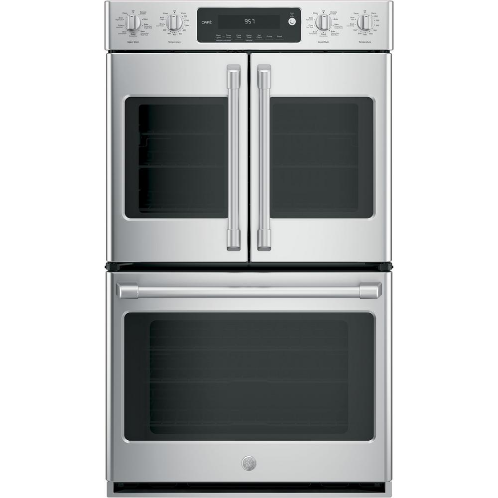 Cafe 30 in  Double Electric Wall Oven Self-Cleaning with Convection in  Stainless Steel
