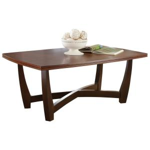 Kenzo 2-Tone Brown and Ebony Cocktail Table by