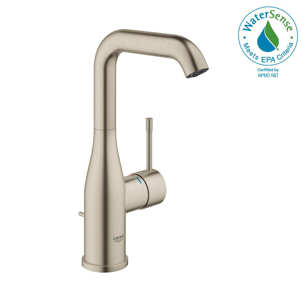 Essence New Single Hole Single-Handle 1.2 GPM High-Arc Bathroom Faucet in
