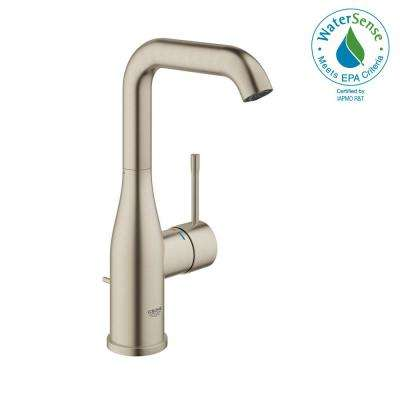 Essence New Single Hole Single-Handle 1.2 GPM High-Arc Bathroom Faucet in Brushed Nickel Infinity