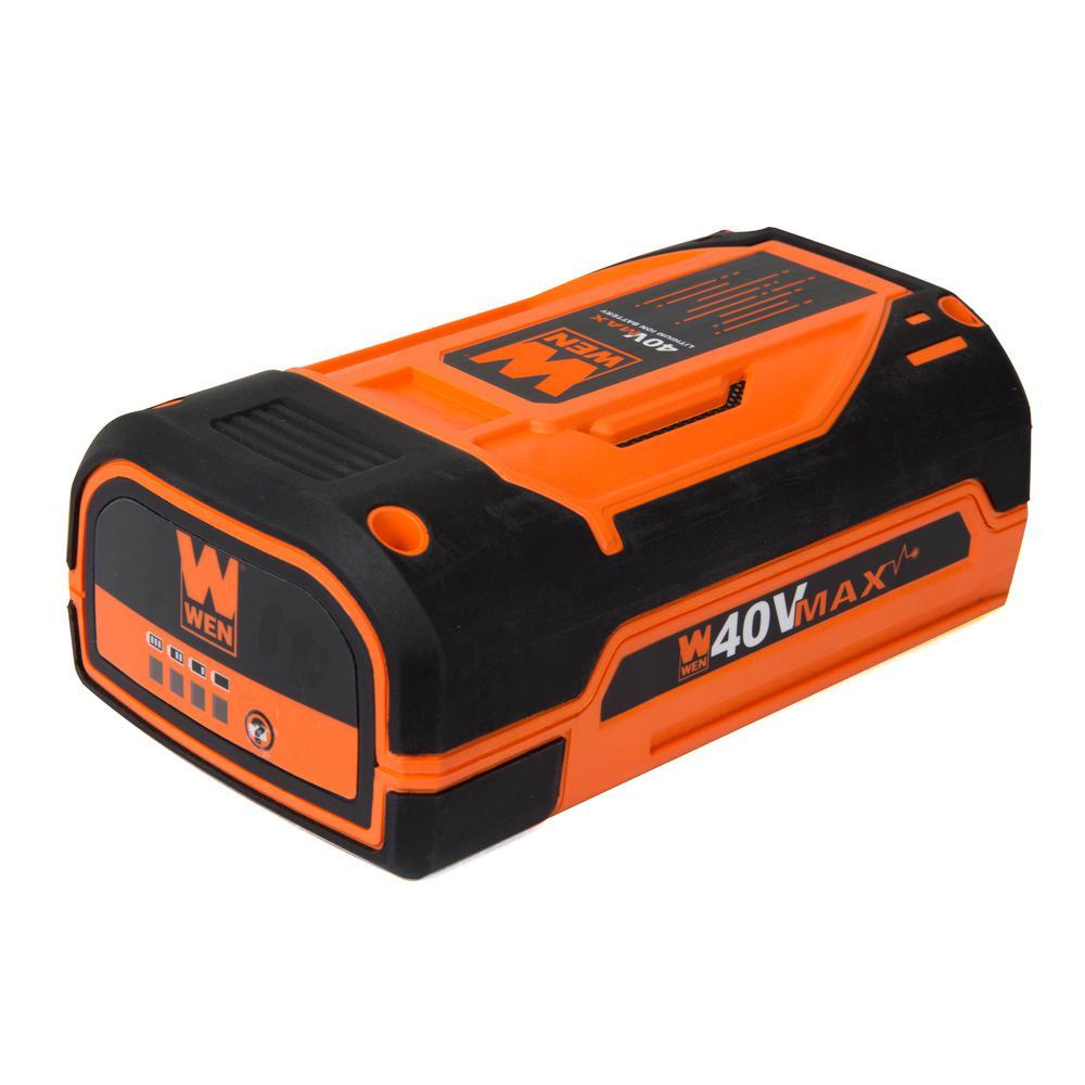 WEN 40-Volt Max Lithium-Ion 2 Ah Rechargeable Battery