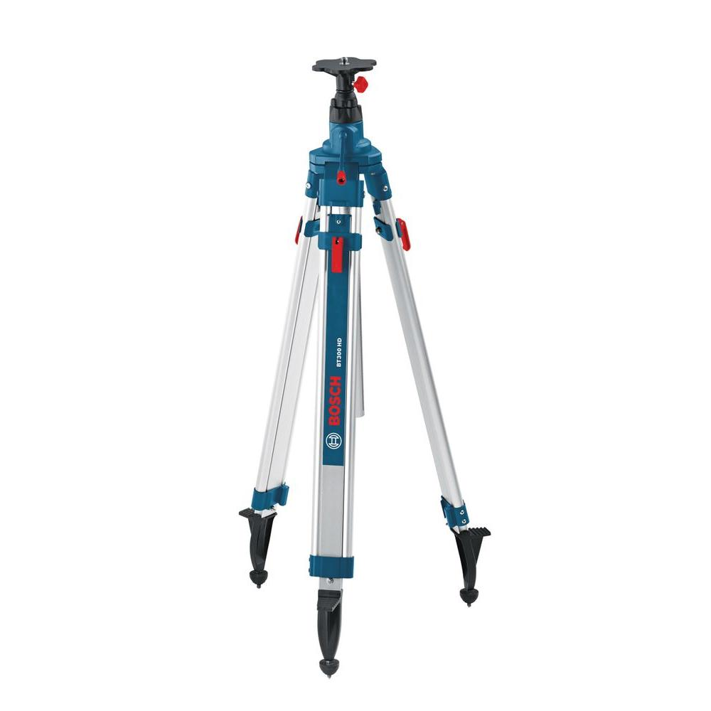 Bosch Heavy-Duty Aluminum Quick Clamp Elevator Tripod with Shoulder Strap