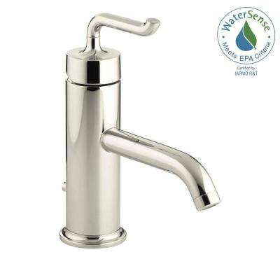 Purist Single Hole Single Handle Low-Arc Bathroom Vessel Sink Faucet in Vibrant Polished Nickel