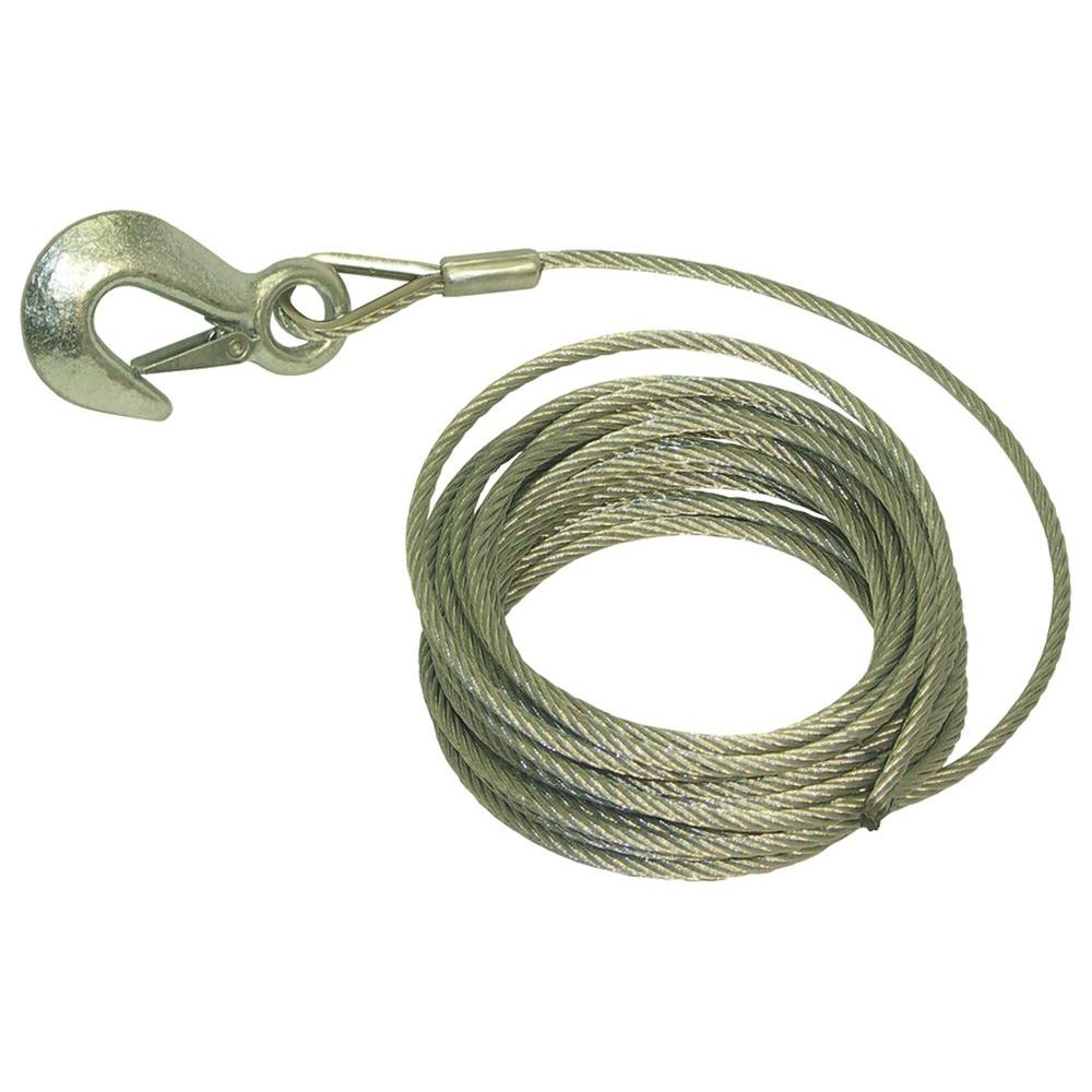 25 ft  x 3/16 in  Trailer Winch Cable
