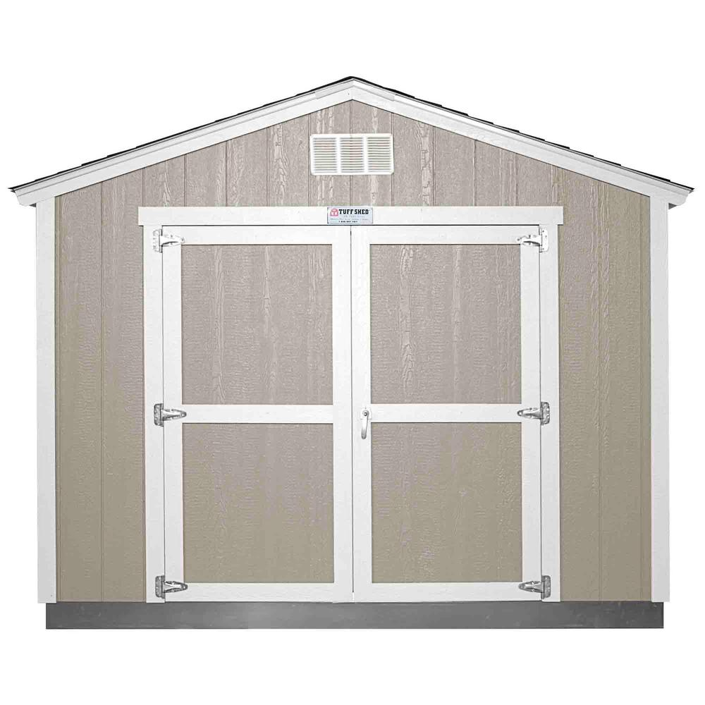 Tuff Shed Installed The Tahoe Series Tall Ranch 10 ft. x 12 ft. x 8 ft. 10 in. Painted Wood Storage Building Shed, Grays -  Tahoe 10x12 E
