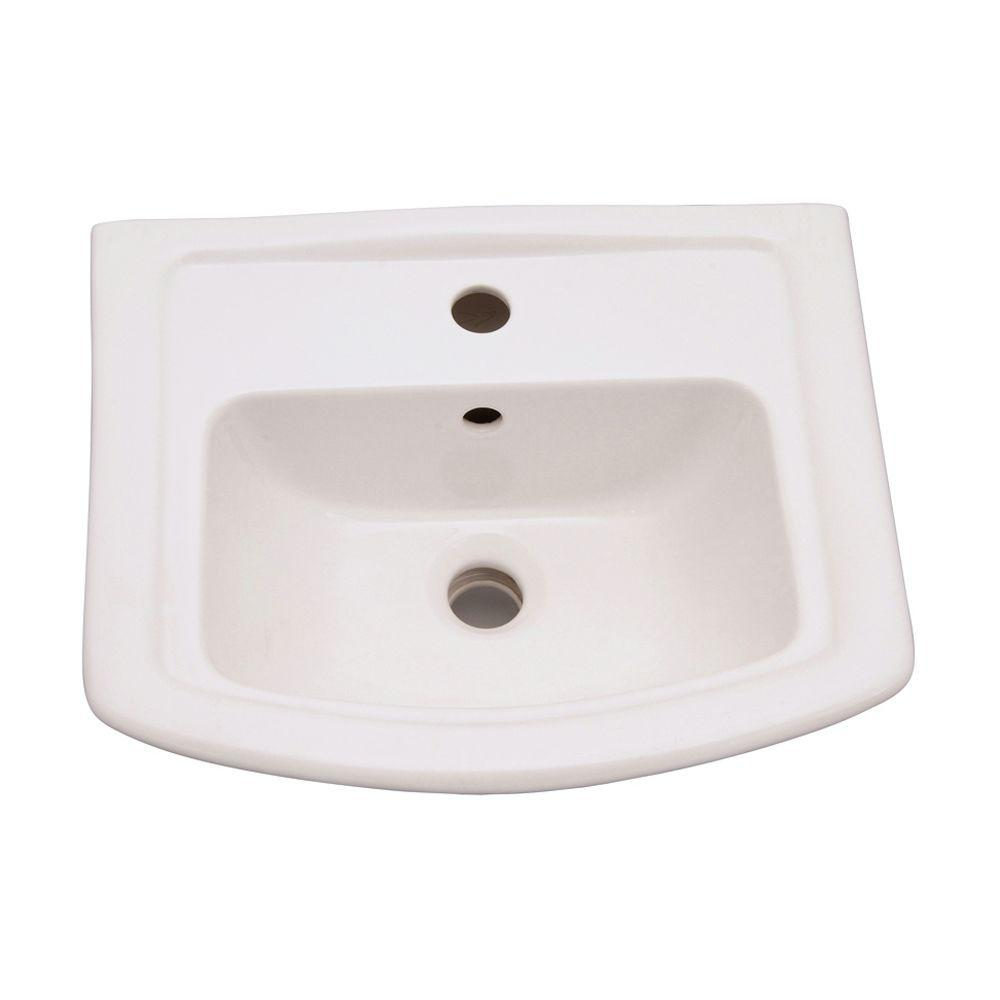 Barclay Products Washington 6 In Pedestal Sink Basin Only In White