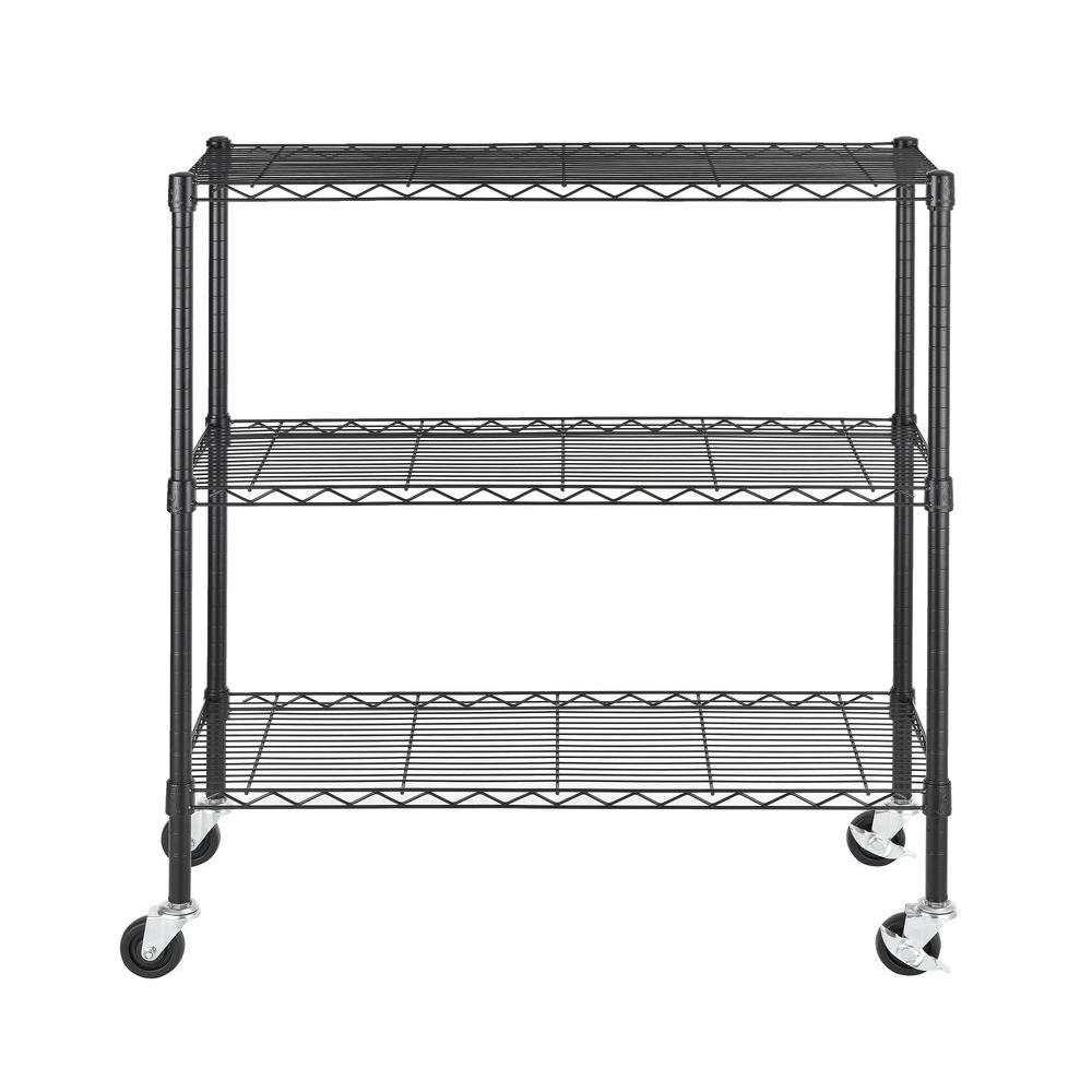 Excel 36 in. W x 14 in. D x 36 in. H Wire Shelving, Black-ES-361436P ...