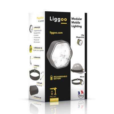 Outdoor Multi-Purpose Freehand Rechargeable Lighting Kit