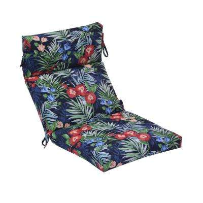 Caprice Tropical Outdoor High Back Dining Chair Cushion (2-Pack)