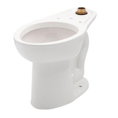Madera FloWise 1-Piece 1.1 GPF Single Flush High Top Spud Elongated Flush Valve Toilet in White