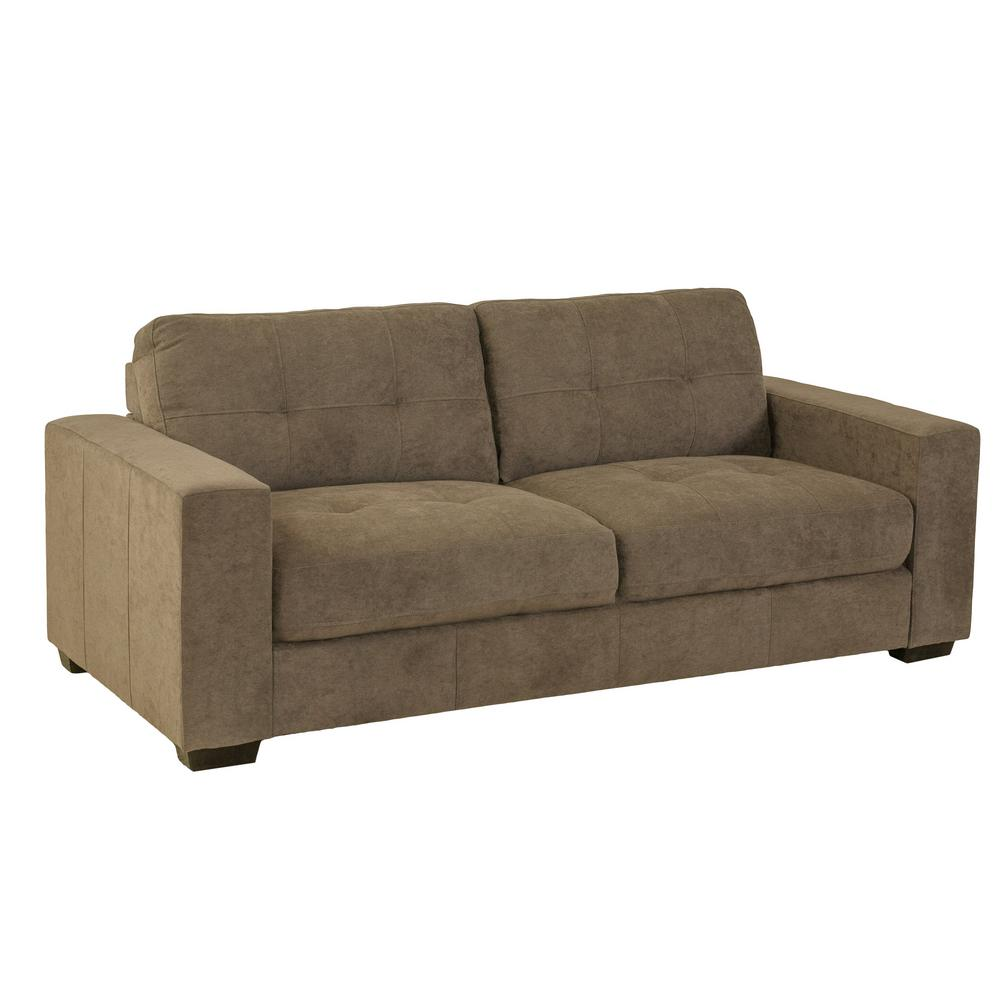 Exceptionnel CorLiving Club Tufted Brown Chenille Fabric Sofa