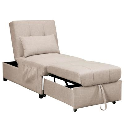 Norley Beige Futon Chair with Pillow
