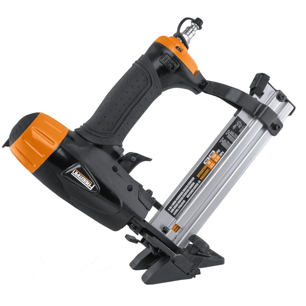 Freeman 18 Gauge Pneumatic 4 In 1 Mini Flooring Nailer And Stapler