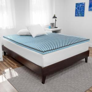 Deals on SensorPEDIC Charcoal 2.5 in. Queen Foam Mattress Topper