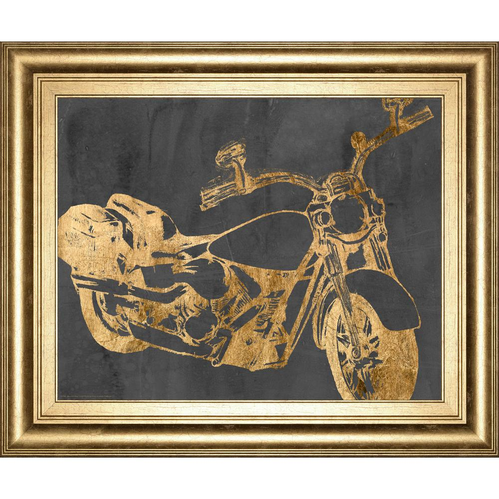 22 in x 26 in motorcycle bling i by jennifer goldberger framed printed wall art