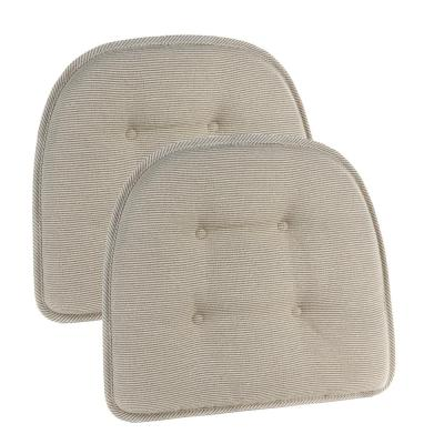 Gripper Non-Slip 15 in. x 16 in. Saturn Natural Tufted Chair Cushions (Set of 2)