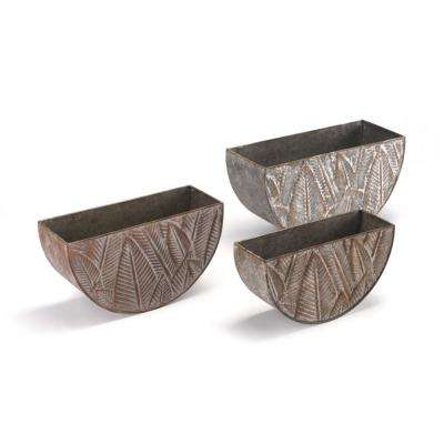 Leaves Multicolor Steel Planter (3-Pack)