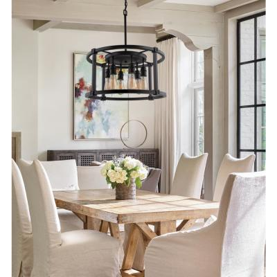 Romaro Row 6-Light Aged Bronze Dinette Chandelier