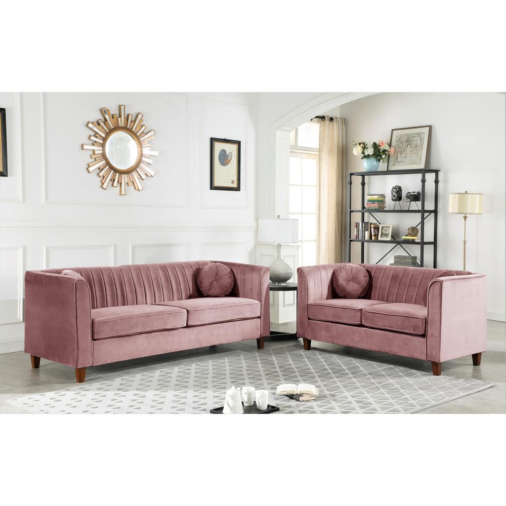 Outstanding Lowery Velvet Kitts Classic Chesterfield Loveseat Rose Short Links Chair Design For Home Short Linksinfo