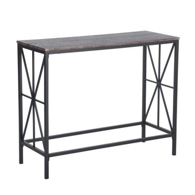 Navin Industrial Style Walnut Color Console Desk