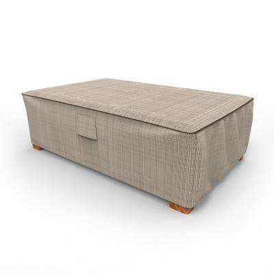 Budge Rust Oleum Neverwet Mojave Large Black Ivory Patio Ottoman Coffee Table Cover P5a36pmnw2 The Home Depot