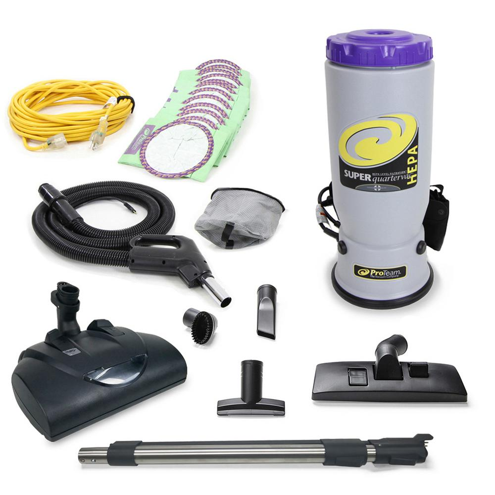 ProTeam Super QuarterVac Commercial Backpack Vacuum with Wessel Werk Head