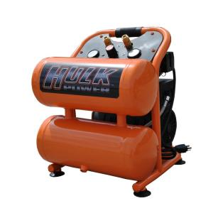 HULK POWER 4 Gal. 1 HP Portable Electric-Powered Twin Stack Silent Air Compressor by HULK POWER