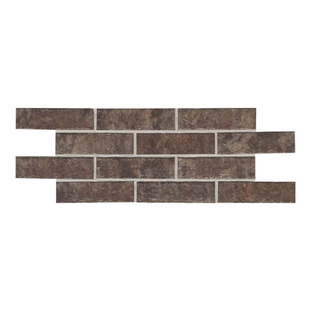Daltile Union Square Cobble Brown 2 in. x 8 in. Ceramic Paver Floor and Wall Tile (6.25 sq. ft. / case)