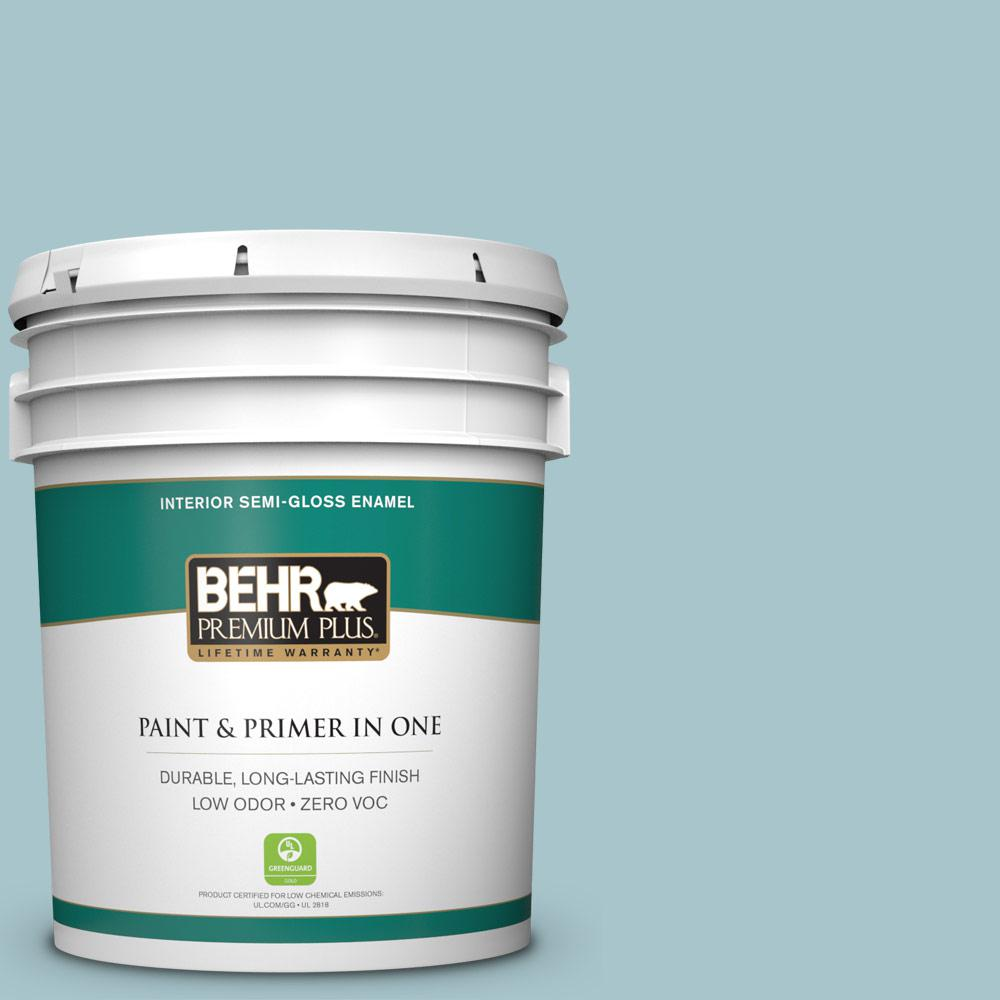 5-gal. #S450-3 Spring Storm Semi-Gloss Enamel Interior Paint