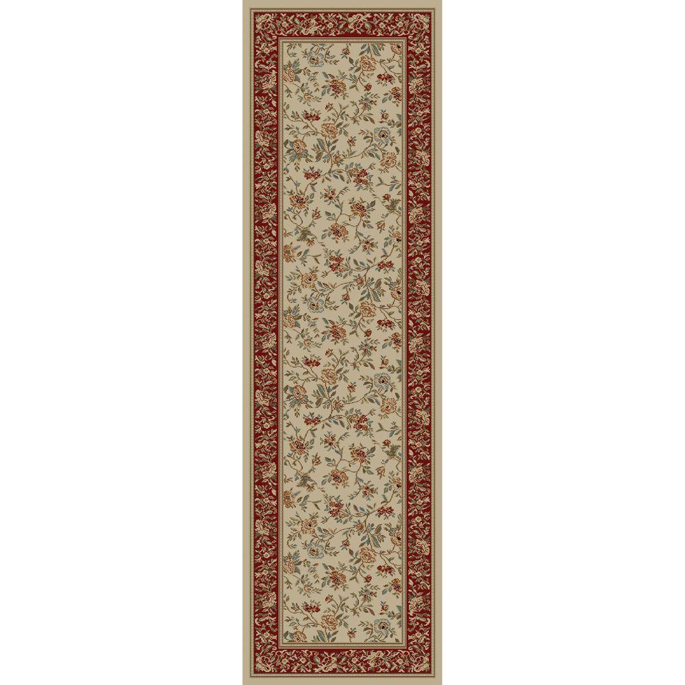 Concord Global Trading Ankara Floral Garden Ivory 2 ft. 2 in. x 7 ft. 3 in. Rug Runner