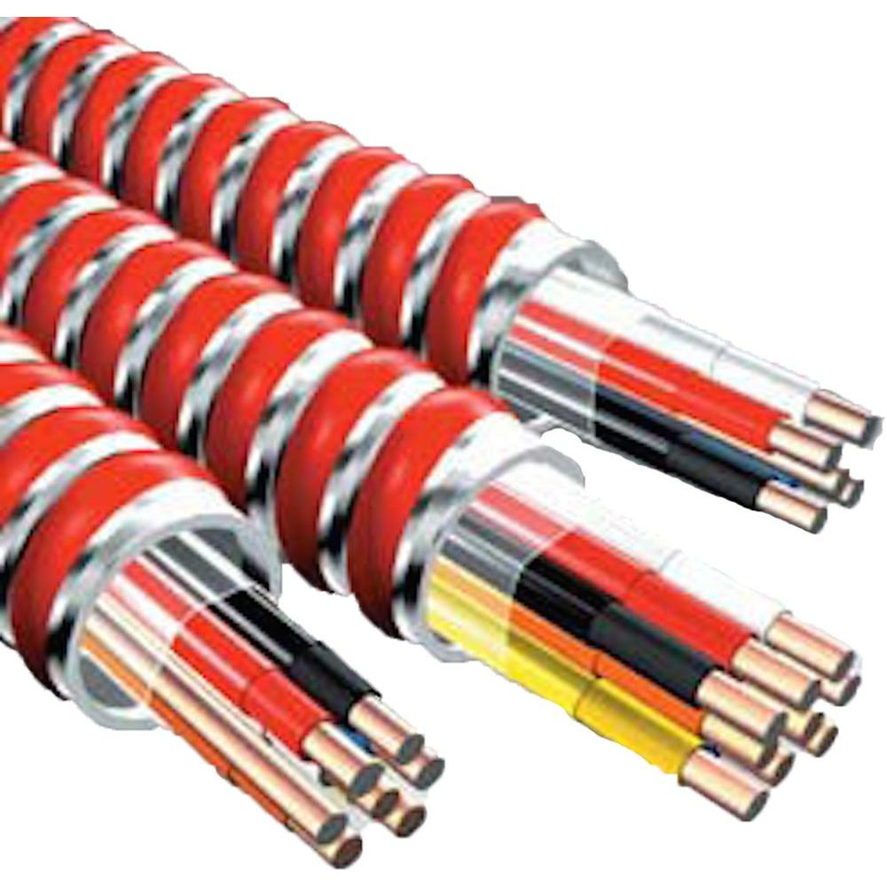 afc cable systems 12 2 x 250 ft mc fire alarm cable 1835r42 00 rh homedepot com connecting mc cable to box Type MC Cable