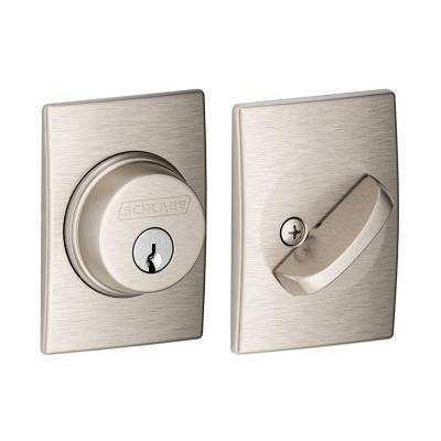 Century Satin Nickel Single Cylinder Deadbolt