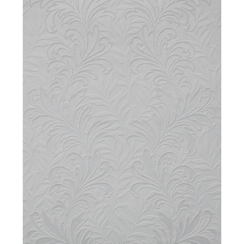 York Wallcoverings, Inc Botanical Leaf Paintable Wallpaper
