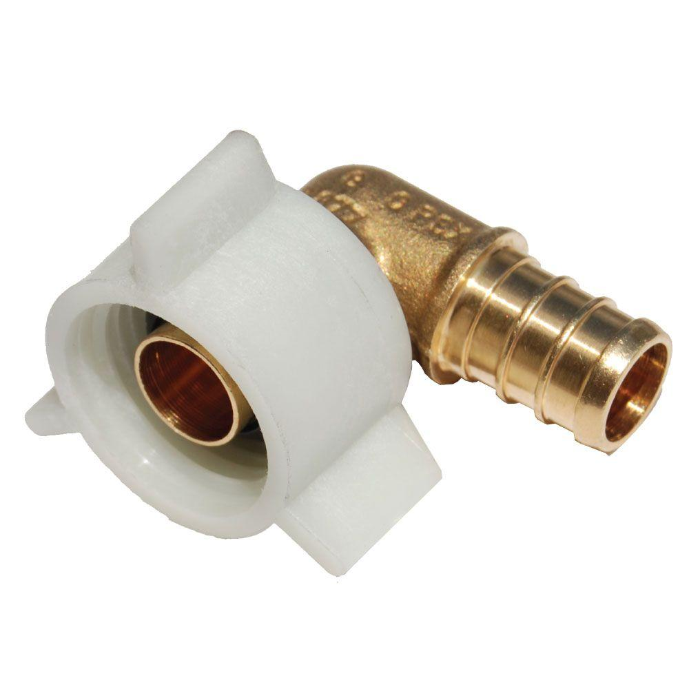 In brass pex barb female swivel degree