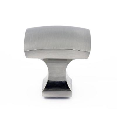 1-5/16 in. x 1-5/16 in. (33 mm x 33 mm) Brushed Nickel Transitional Metal Cabinet Knob