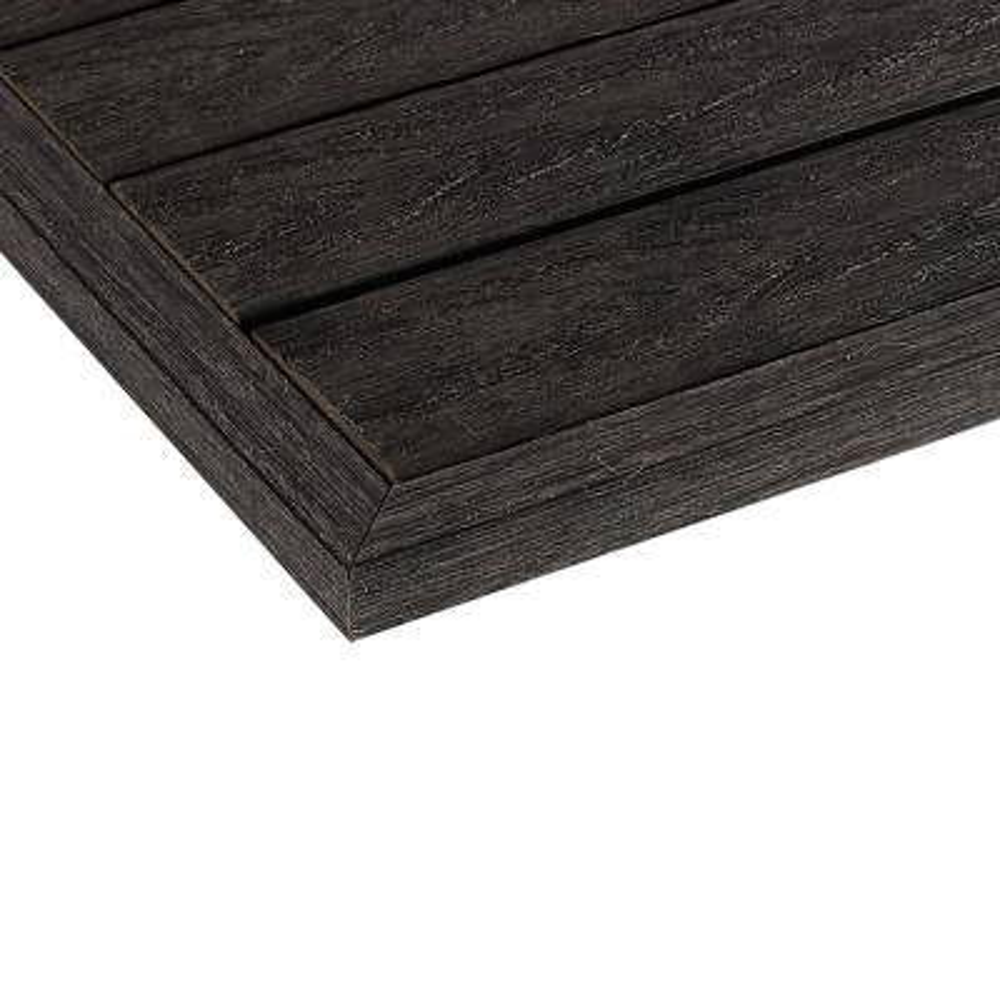 1/6 ft. x 1 ft. Quick Deck Composite Deck Tile Outside Corner Trim in Hawaiian Charcoal (2-Pieces/Box)