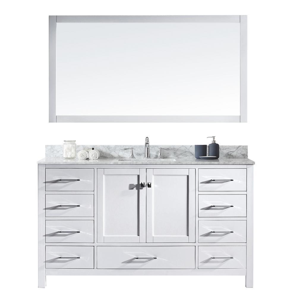 Virtu Usa Caroline Avenue 60 In W X 36 H Vanity With Marble