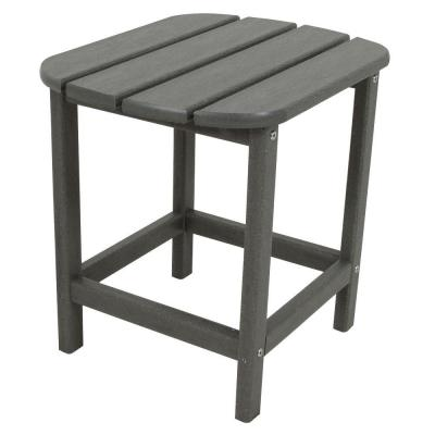 South Beach 18 in. Slate Grey Patio Side Table